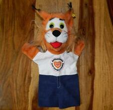 "STEIFF 1979 ""LUCKI LUCHS"" LYNX HAND GLOVE PUPPET WITH BUTTON & ID TAG 7956-35"