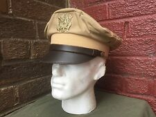 WW2 US officers summer cap Chino style,  size 60