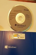 Windows 7 Pro Professional 64Bit SP1 + 1 COA License Key Sealed Pack Original