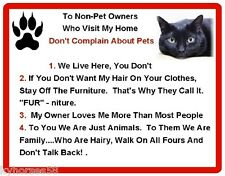 Funny Bombay Cat Rules Refrigerator Magnet