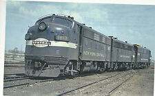 New York Central Engines  #1813  #1699  #1742  EMD F7A  1967 Postcard Train 9224