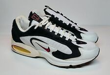 Men's RARE Nike Air Max Triax 2 1996 Running Shoe White/Team Red/Black Size 9.5