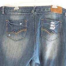 Almost Famous Women's Plus Sz 20 XL 42 x 32 Distressed Destroyed Stretch Jeans
