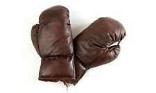 Framed Print - Vintage Retro Leather Boxing Gloves(Picture Poster Sport Fighting