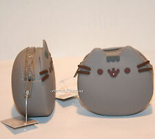 """Pusheen Facebook Cat 3 1/4"""" Silicone Coin Purse 3D whiskers & ears Hot Topic NEW"""