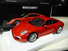 1:18 Minichamps PORSCHE 911 991 Carrera S 2011 rot red NEU NEW