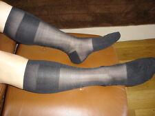 1 P mi bas nylon transparente socks sheer noir V09 T-42/45 pointe talon renforcé