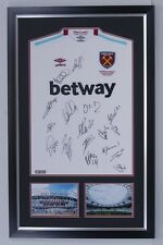 West Ham United F.C. Signed & Framed Home JERSEY Inc Andy Carroll AFTAL COA (G)