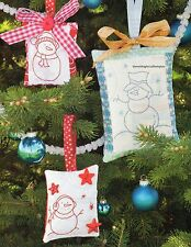 Quilty Christmas Ornaments Quilt Pattern Pieced/Embroidery WS