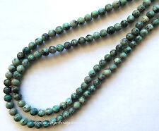 "6mm Green African Turquoise Round Beads *16"" long strand"