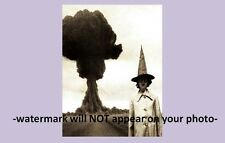 Scary Vintage Creepy Halloween Witch PHOTO Mushroom Cloud Bomb Freak Scary