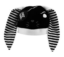 PAWSTAR Pirate Bunny Hat Cosplay Kawaii Goth Anime White Black [WH]1546