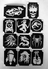 bm2017 set boys GLITTERTATTOO 11 diff stencils dino pirate dragon glitter tattoo
