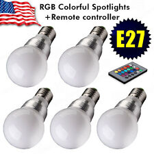 5x3W E27 LED RGB Magic Light Bulb 16Colors Changing With Wireless Remote Control