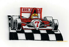 RACE CAR #7 HAT PATCH Indianapolis 500 PIN UP QUILT GIFT SPEEDWAY RACER DRIVER