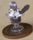 1:12 Chocolate Ice Cream Sundae Dolls House Miniature Kitchen Food Accessory I1