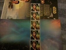 Star wars   Royal mail first day  envelope and five  Han solo   stamps