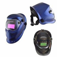 Auto Oscurecimiento Casco Máscara Soldadura Molienda función Soldadoras Mig Tig Arc azul