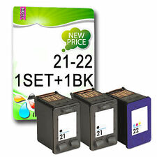 3 Non-OEM ink 21 and 22 For Deskjet F2200 F2280 F2180 F380 D2460 F2100 3910