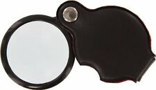 """New 2pc 3 X1.5"""" Glass Lens Folding Pocket Magnifier Padded Pouch #MF2054B"""