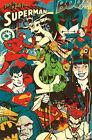 DC COMICS - THROWBACK POSTER - 22x34 CHARACTERS BATMAN SUPERMAN RETRO 9663