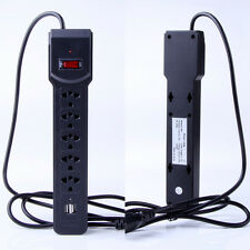 NewSurge Protector w/2 USB Port 5 Outlet Power Socket Strip With Lightningproof