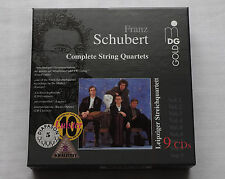 LEIPZIGER STREICHQUART-SCHUBERT Complete string quartets GERMANY 9xCD Box MINT