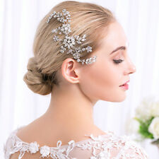 Wedding Hair Comb Rhinestone Headpiece Floral Crystal Bridal Accessories 1 Piece