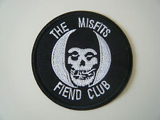 MISFITS PATCH Fiend Club Iron On Skull Samhain Glenn Danzig Band Badge Logo NEW