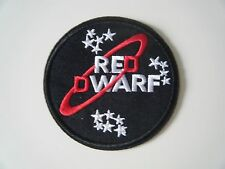 RED DWARF PATCH Embroidered Iron On Badge Logo NEW