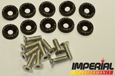 PASSWORD JDM Fender Washers BLACK x10 Honda Civic Integra CRX Type R EK9 EP3 DC2