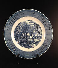 """Currier & Ives by Royal China on Royal Ironstone Country Cottage 10"""" Plate"""