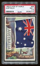 1956 Flags of the World #59 Australia PSA 7.5 NM+ Cert #25393710