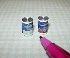 Miniature Pair of Brand Soups (Clam Chowder/Chicken Noodle): DOLLHOUSE 1/12
