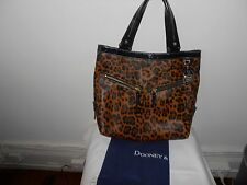 Dooney & Bourke leopard animal print tote with patent leather trim Large/XL