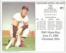 TED WILLIAMS 8x10 Vintage Photo 500 HR CARD not HOF Induction BOSTON RED SOX MLB