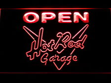 Hot Rod Garage Beer OPEN Bar LED Neon Light Sign Man Cave 068-R