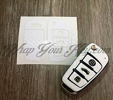 WHITE CARBON Key Wrap Cover Case Skin Audi Remote A1 A3 A4 A5 A6 A8 TT Q3 Q5 Q7