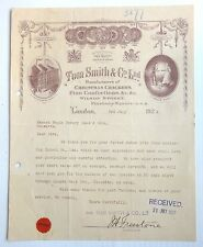 Tom Smith & Co. Ltd Christmas Crackers London 1929 letterhead to India