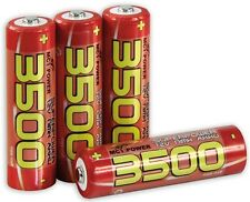 4 x Mignon AA High Power Batterie rechargeable 1,2 V 3500 mAh NiMH pile durable