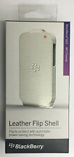 New OEM Blackberry Q10 Leather Flip Shell Carrying Cover Case Retail - White