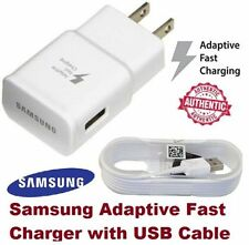 Authentic Original OEM Samsung Adaptive Fast Rapid Wall Charger + 5FT USB Cable