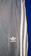 ADIDAS Vintage FIREBIRD TRACK PANTS Silver/Gray 3 Stripe - MEDIUM