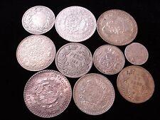 World Silver Coins Include  Chile 1927 UN Peso 1889 1/4 India Rupee Scarce #NL6