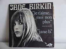 JANE BIRKIN Je t aime moi non plus GAINSBOURG AZ SG 113