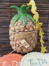 Munktiki Three Dots And A Dash Chicago Skull Voodoo Pineapple Lidded Tiki Mug