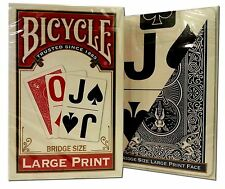Lot 2 Deck Set Bicycle® Large Print Bridge Playing Cards Game Red & Blue Narrow