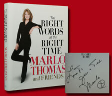 Marlo Thomas SIGNED The Right Words at the Right Time