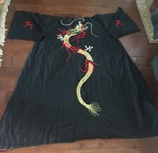 Vintage Men's Beautiful Japanese Silk Dragon Kimono, Samurai, Bushi-do, cosplay