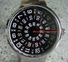 Black faceJump Hour Direct Read Retro 1960s Style Watch Men Paidu  Wristwatch